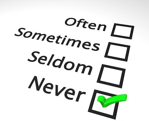 4 survey choices