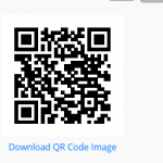 Sample QR code survey link
