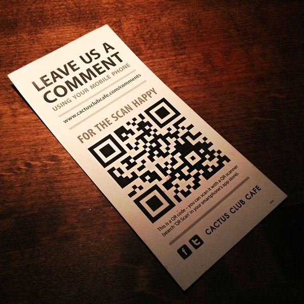 Example QR code with a feedback link