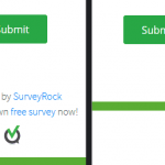 Enterprise plan feature. Image on the left is the normal view with the powered by SurveyRock text. Image on the right is without.