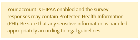HIPAA data warning to remind you to handle the information carefully
