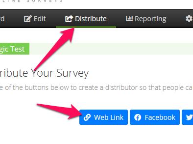 Create a new web link distributor